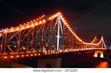 Brisbane Storey Bridge By Night