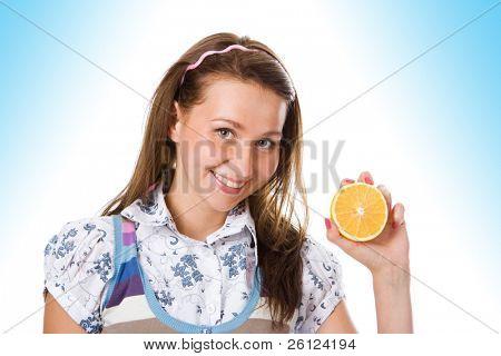 beauty irl with orange