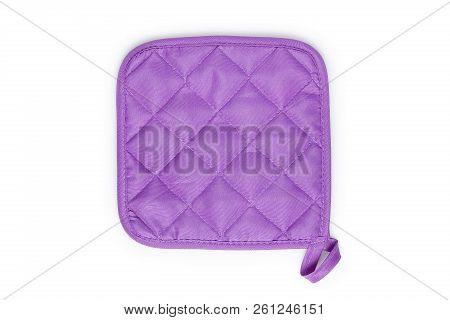 Purple Pot Holder Isolated On White Background