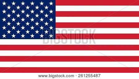 Usa Flag. Flag Of The United States Of America. American Flag For Independence Day. Vector Illustrat