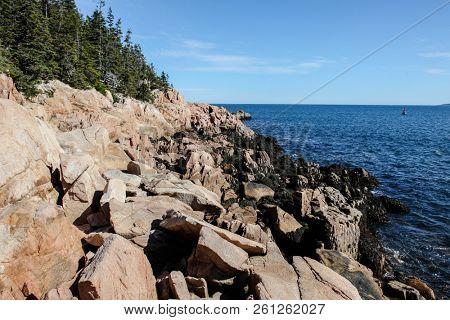Rocky coast in Acadia NP, Maine