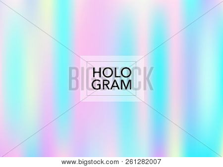 Magic Hologram Lights Vector Background. Luxury Trendy Tender Pearlescent Color Overlay. Vibrant Hol