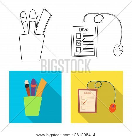 Vector Illustration Of Education And Learning Sign. Collection Of Education And School Stock Vector