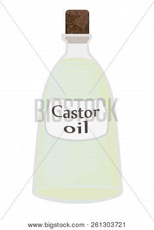 Castor Oil Vector Illustration On A White Background
