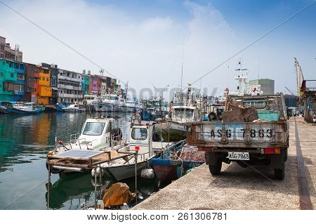 Old Fishing Harbor Of Keelung City
