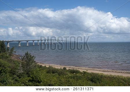The Confederation Bridge Between Prince Edward Island And New Brunswick Canada