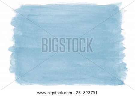 Hand-painted Blue Watercolor Background With Brush Stroke Texture