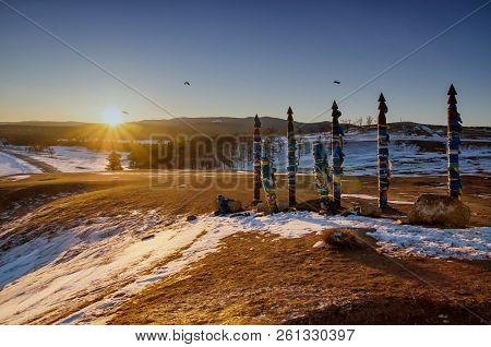 Sacred Buryat Place On Olkhon Island, Lake Baikal, Russia