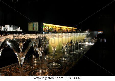 Row Of Margarita Cocktails