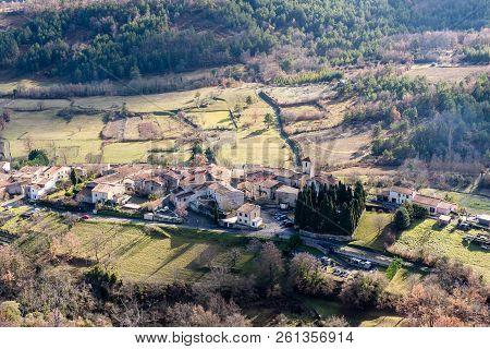 Forest In Mountanis In Ignaux, Occitania, Francia