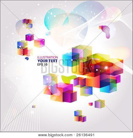 bright geometrical illustration