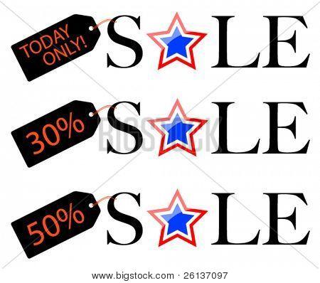 Patriotic Sale - Discount Tags