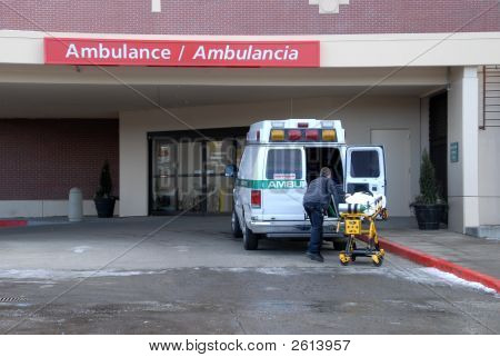 Ambulance At Hospirtal 2