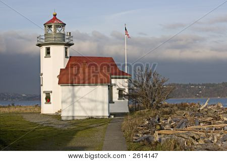 Point Robinson light house on Vashon Island inWashington state poster