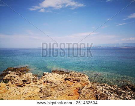 View On Adriatic Sea From Vir Island In Croatia, Europe.