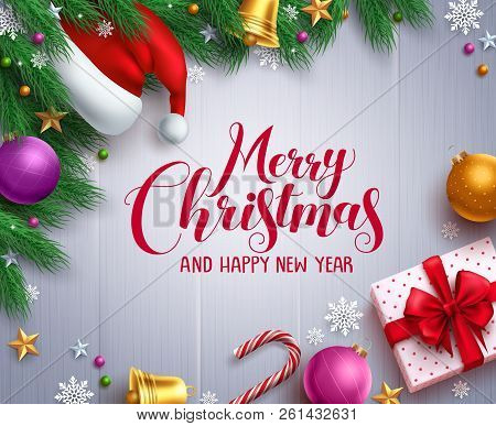 Christmas Vector Banner And Background Template With Merry Christmas Greeting Typography And Colorfu