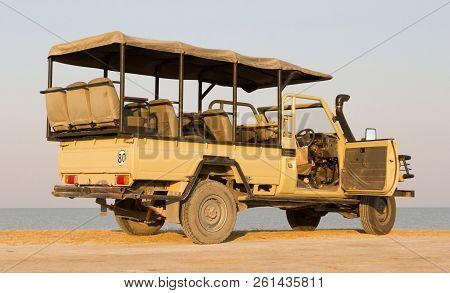 Game Drive Vehicle In The Makgadikgadi, Botswana