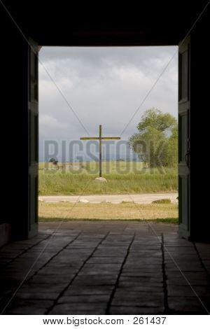 Cross Through Doorway.