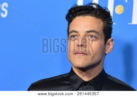 LOS ANGELES - AUG 09:  Rami Malek arrives to the Hollywood Foreign Press Association's Annual Grants Banquet  on August 9, 2018 in Hollywood, CA