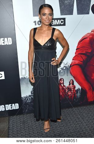 LOS ANGELES - SEP 27:  Lauren Ridloff arrives for 'The Walking Dead