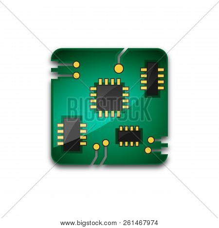 Circuit Board Technology Icon, Shiny Circuit Board Technology Icon Eps10, Circuit Board Technology I