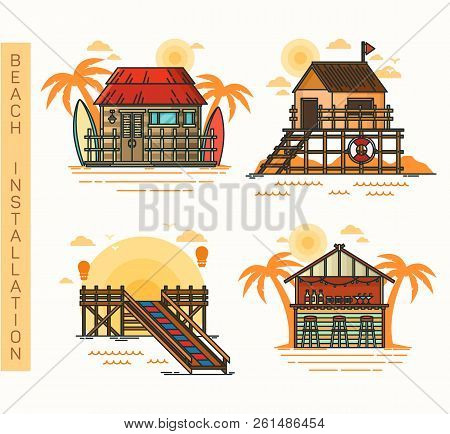 Hut At Beach, Bar And Pier, Rescue House
