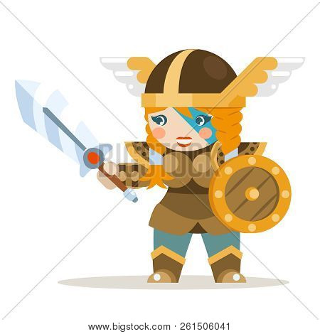 Valkyrie Female Warrior Fantasy Medieval Action Rpg Game Layered Animation Ready Character Vector Il