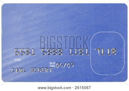 Blue Credit Card With Fake Numbers