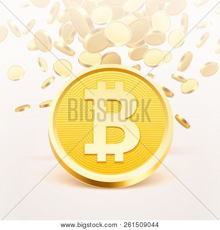 Bitcoin Cash Golden Coin, Many Coins Coins Background