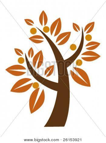 autumn stylized tree