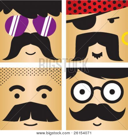 4 avatar faces kit