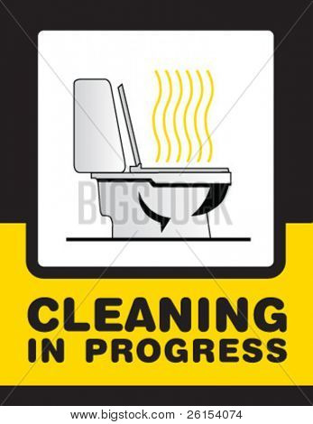 cleaning bath sign
