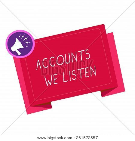 Writing note showing Accounts Receivable. Business photo showcasing Legal Claim of Payment Money Owed to by Debtors poster