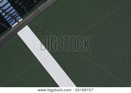 Tennis court line and net with room for copy