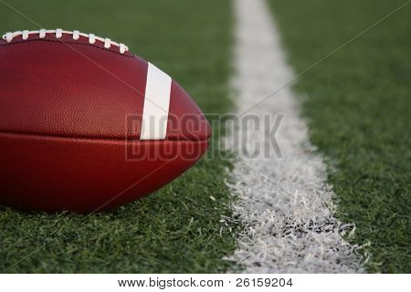 American collegiate football near the yard line