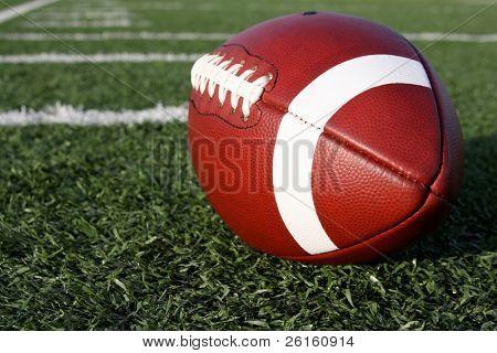 Collegiate Football near the yard lines