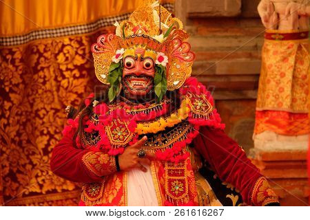 Man Dressed In Balinese Clothes To Do Balinese Dance