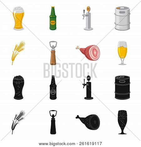Vector Design Of Pub And Bar Sign. Collection Of Pub And Interior Stock Symbol For Web.