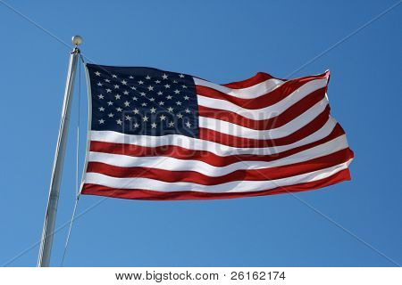 Rippled US Flag