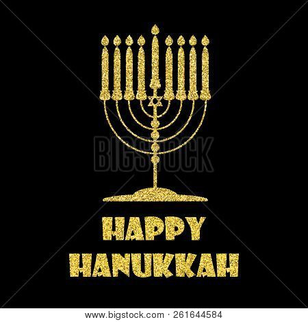 Hanukkah greeting vector photo free trial bigstock hanukkah greeting card with menorah traditional candelabra golden hanukkah menorah isolated objec m4hsunfo