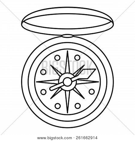Compass Icon. Outline Illustration Of Compass Icon For Web