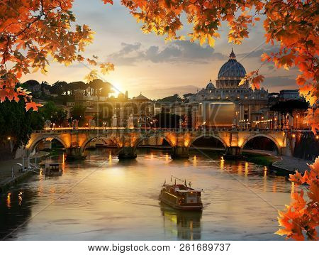 View On Vatican In Autumn Evening, Italy