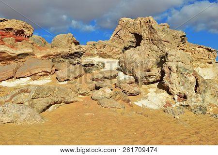 The Sahara Desert, Western White Desert, Gabel El Cristal, Cristal Mountain. Egypt. Africa