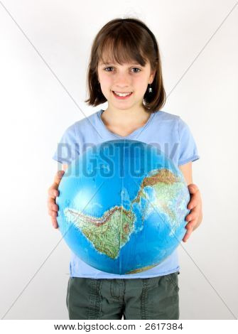 Girl Holding The World