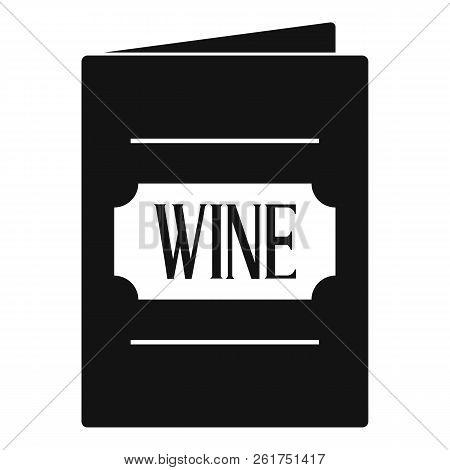 Wine List Icon. Simple Illustration Of Wine List Icon For Web
