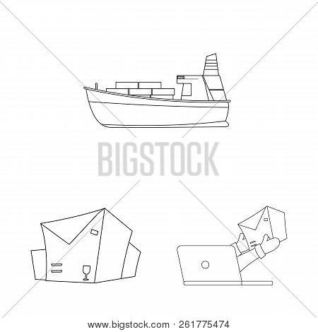 Isolated Object Of Goods And Cargo Logo. Collection Of Goods And Warehouse Stock Symbol For Web.