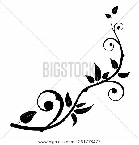 Floral Swirls And Flowers. Border For The Cover. Vector Illustration