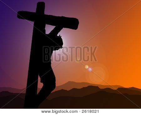 Christ On Cross Illustration