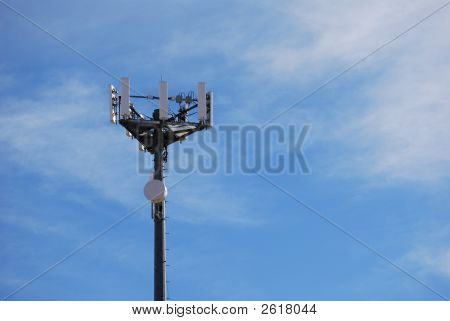 Cell Tower With Copy Space