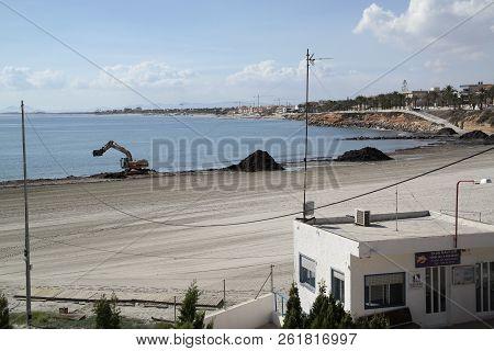 Pila De La Horadada Spain - 05 Oct 2018 :  Med. Coastline Near Pilar